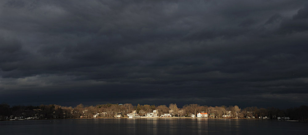 Breaking storm over Lake Parsippany